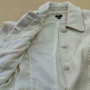 Mossimo  ivory textured jacket size small